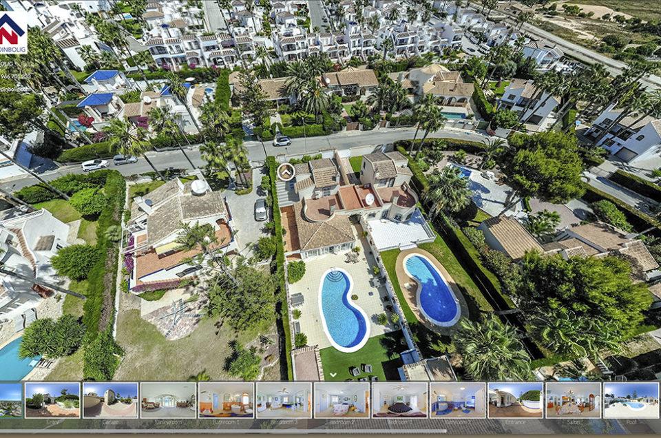 Tour Virtual 360 con Vista Aerea Dron y videollamada.